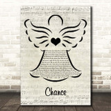 Big Country Chance Music Script Angel Song Lyric Print