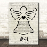 Dave Matthews Band #41 Music Script Angel Song Lyric Print