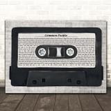 Pulp Common People Music Script Cassette Tape Song Lyric Print