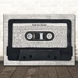 Rush Red Barchetta Music Script Cassette Tape Song Lyric Print
