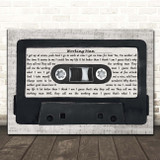 Rush Working Man Music Script Cassette Tape Song Lyric Print