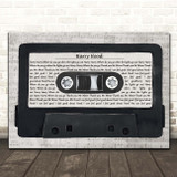 Phish Harry Hood Music Script Cassette Tape Song Lyric Print