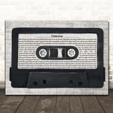 Imagine Dragons Demons Music Script Cassette Tape Song Lyric Print