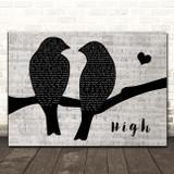 Lighthouse Family High Lovebirds Music Script Song Lyric Print