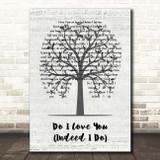 Frank Wilson Do I Love You (Indeed I Do) Music Script Tree Song Lyric Print