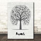 Christina Perri Arms Music Script Tree Song Lyric Print
