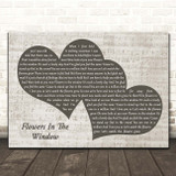 Travis Flowers In The Window Landscape Music Script Two Hearts Song Lyric Print