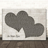 Peter Gabriel In Your Eyes Landscape Music Script Two Hearts Song Lyric Print