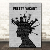Sex Pistols Pretty Vacant Musical Instrument Mohawk Song Lyric Print