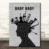 The Vibrators Baby Baby Musical Instrument Mohawk Song Lyric Print