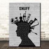 Slipknot Snuff Musical Instrument Mohawk Song Lyric Print
