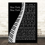 Frank Sinatra New York, New York Piano Song Lyric Print