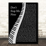 Queen Don't Stop Me Now Piano Song Lyric Print