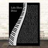 Aliotta Haynes Jeremiah Lake Shore Drive Piano Song Lyric Print