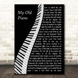 Diana Ross My Old Piano Piano Song Lyric Print