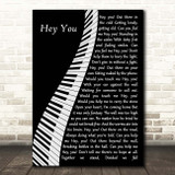 Pink Floyd Hey You Piano Song Lyric Print