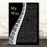 Frank Sinatra My Way Piano Song Lyric Print