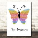 Girls Aloud The Promise Rainbow Butterfly Song Lyric Print