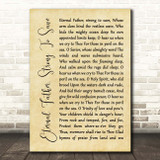 William Whiting Eternal Father, Strong To Save Rustic Script Song Lyric Print