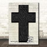 Kari Jobe You Are For Me Music Script Christian Memorial Cross Song Lyric Print