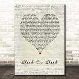 Bon Jovi Blood On Blood Script Heart Song Lyric Print