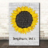 Harry Styles Sunflower, Vol. 6 Grey Script Sunflower Song Lyric Print