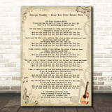 George Formby Have You Ever Heard This One Vintage Guitar Song Lyric Print