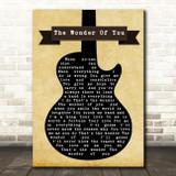 Elvis Presley The Wonder Of You Black Guitar Song Lyric Quote Print