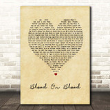 Bon Jovi Blood On Blood Vintage Heart Song Lyric Print