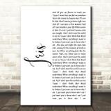 Goo Goo Dolls Iris White Script Song Lyric Quote Print