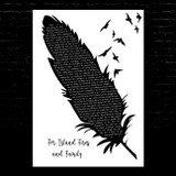 Dermot Kennedy For Island Fires and Family Black & White Feather & Birds Song Lyric Music Art Print