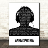 Deaf Havana Anemophobia Black & White Man Headphones Song Lyric Music Art Print