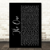 Kodaline The One Black Script Song Lyric Quote Print