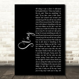 Rihanna Stay Black Script Song Lyric Music Art Print