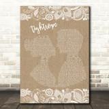 Michelle Williams Tightrope Burlap & Lace Song Lyric Music Art Print