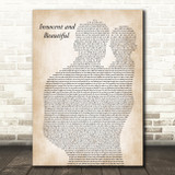 Tide Lines Innocent and Beautiful Father & Baby Song Lyric Music Art Print