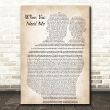 Bruce Springsteen When You Need Me Father & Baby Song Lyric Music Art Print