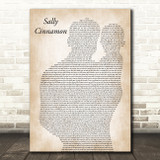 The Stone Roses Sally Cinnamon Father & Baby Song Lyric Music Art Print