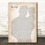 Collin Raye The Gift Father & Baby Song Lyric Music Art Print