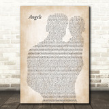 Robbie Williams Angels Father & Baby Song Lyric Music Art Print