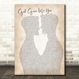 Dave Barnes God Gave Me You Two Men Gay Couple Wedding Song Lyric Music Art Print