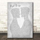 Matt Stell Prayed For You Two Men Gay Couple Wedding Grey Song Lyric Music Art Print