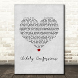 Avenged Sevenfold Unholy Confessions Grey Heart Song Lyric Music Art Print