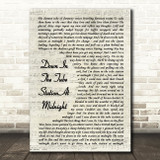The Jam Down In The Tube Station At Midnight Vintage Script Song Lyric Print