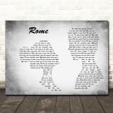 Dermot Kennedy Rome Man Lady Couple Grey Song Lyric Music Art Print