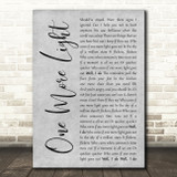 Linkin Park One More Light Grey Rustic Script Song Lyric Music Art Print