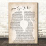 Candi Staton You've Got The Love Lesbian Women Gay Brides Couple Wedding Song Lyric Music Art Print