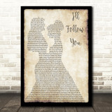 Shinedown I'll Follow You Lesbian Couple Two Ladies Dancing Song Lyric Music Art Print