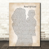 Freda Payne Band Of Gold Mother & Baby Song Lyric Music Art Print