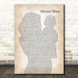 Neil Young Harvest Moon Mother & Baby Song Lyric Music Art Print